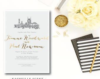 Nashville Scenes Wedding Invitations