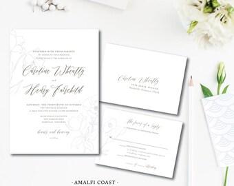 Amalfi Coast Wedding Invitations