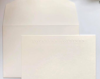 Embossed Montreal Notecards