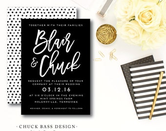 Chuck Bass Wedding Invitations
