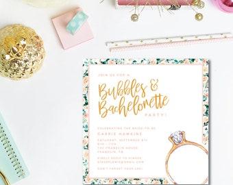 Bubbles and Bachelorette Invitations