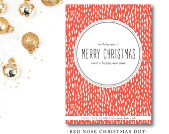 Red Nose Christmas Dot Cards