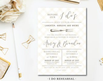 I Do Rehearsal Dinner Invitations