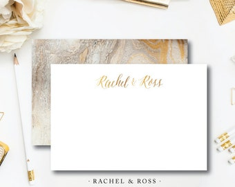 Ross and Rachel Marble Stationery