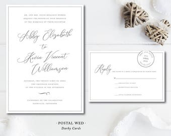 Postal Wed Invitations