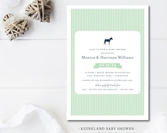 Keeneland Derby Baby Shower Invitations