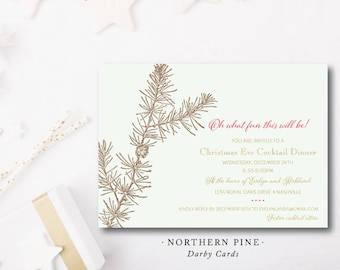 Northern Pine Christmas Party Invitations