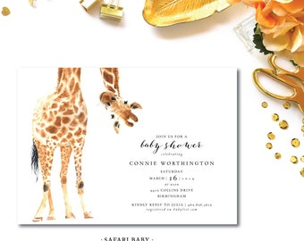 Safari  Shower Invitations
