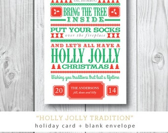 Holly Jolly Tradition Cards