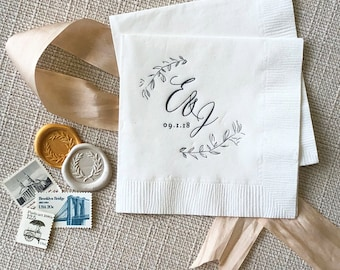 Warren's Point Monogram Napkins