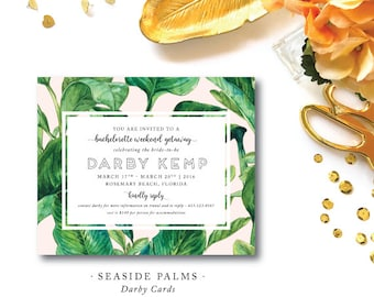 Seaside Palms Invitations