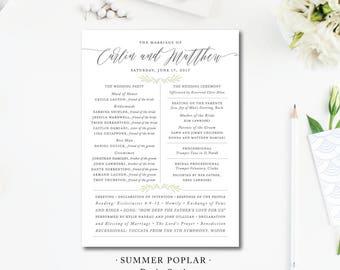 Summer Poplar Ceremony Programs