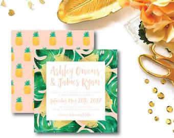 Love in Paradise Wedding Invitations