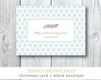 Simply Snowflake Holiday Cards