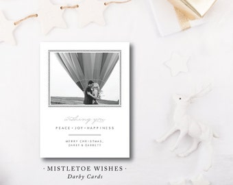 Mistletoe Wishes Christmas Cards
