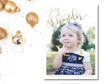 Joy and Wonder Christmas Cards