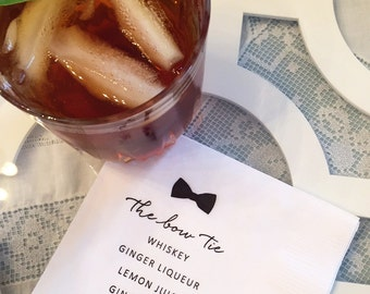 Cocktail Recipe Napkins