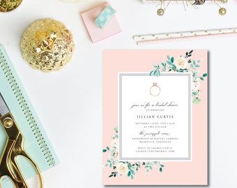 With this Ring Bridal Shower Invitations