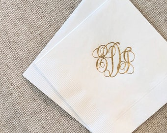 Classic Monogrammed Napkins