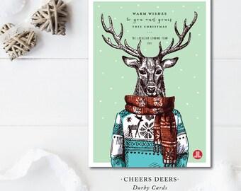 Cheers Deers Holiday Cards