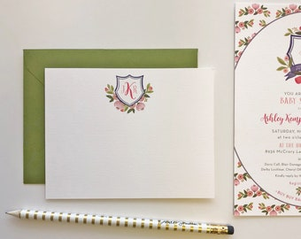 English Tea Monogramed Stationery