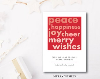 Merry Wishes Ombre Holiday Cards