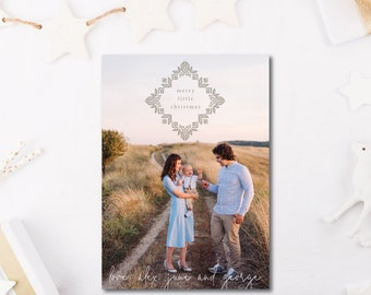 Hand Stitched Holiday Photocard