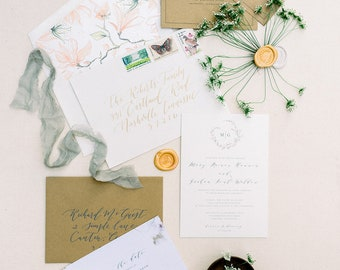 Cherokee Dock Wedding Invitation Suite