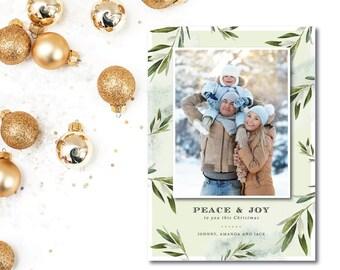 Christmas Peace Holiday Photocard