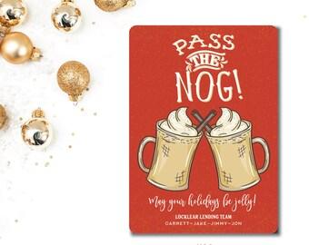 Eggnog Printed Holiday Cards