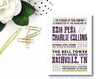 Nashville Printed Wedding Invitations