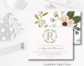 Garden Pretties Baby Shower Invitations