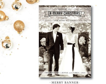 Merry Banner Holiday Cards