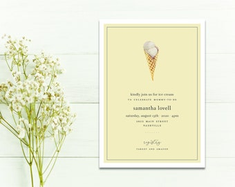 Ice Cream Social Invitation...Printable