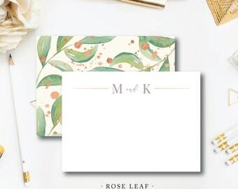 Rose Leaf Stationery