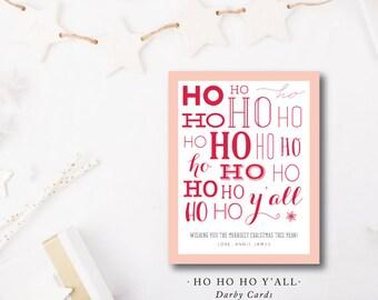 Ho Ho Ho Y'all Christmas Cards
