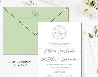Summer Poplar Wedding Invitations