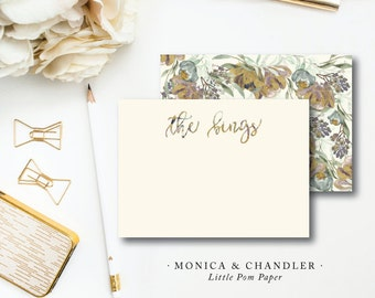 Monica and Chandler Stationery