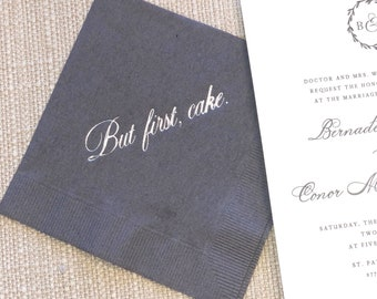 But first, Cake Custom Napkins