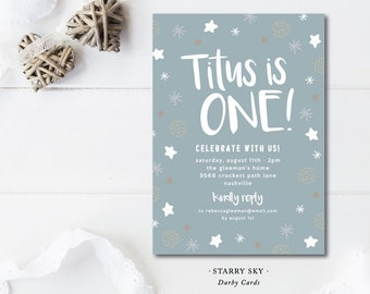 Starry Sky Birthday Invitations