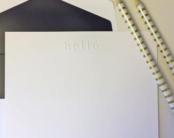 Custom Lowercase Monogram with Hand Lined Envelopes