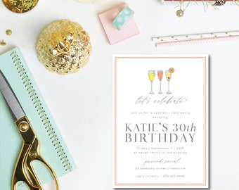Cocktails and Cake Invitations
