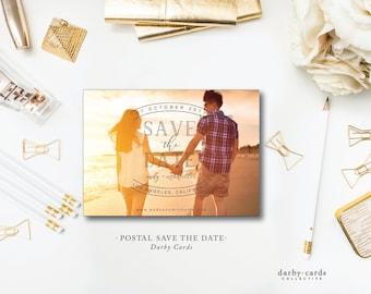 Postal Photo Print Save the Dates