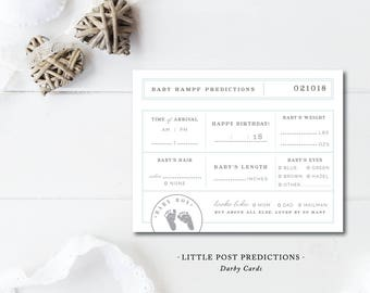 Little Post Baby Prediction Cards