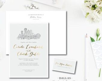 Dallas Scenes Wedding Invitations
