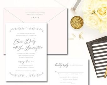 Garden Light Wedding Invitations