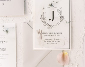 St Vincents Rehearsal Dinner Invitations