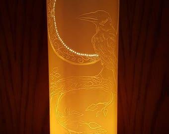 Crow and Moon Lamp