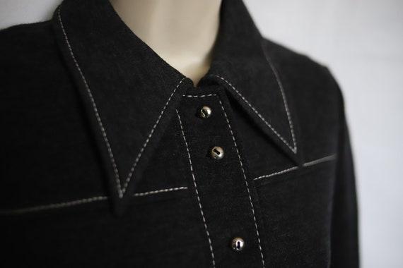 vintage winter dress in grey wool