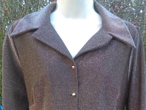 Vintage lurex blouse circa 1960's.